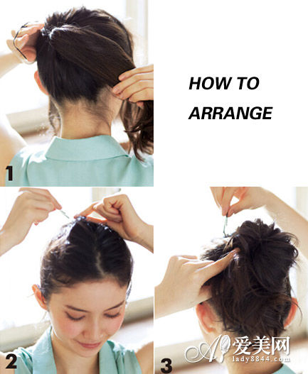 扎发步骤:   step1:先将头发绑成高耸的马尾