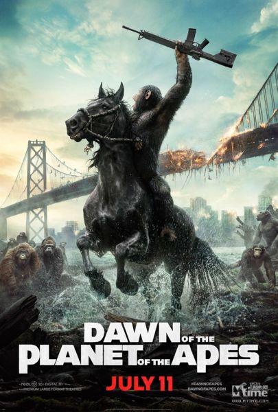 《猩球崛起:黎明之战》曝海报打响人猿大战