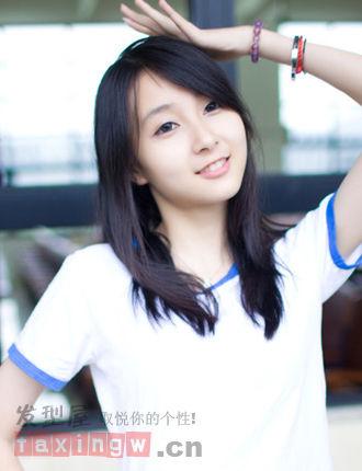 适合高中女生的发型 清纯简约最迷人
