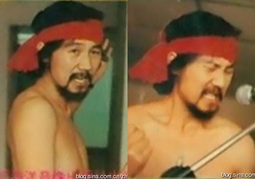 腾格尔26年前雷人旧照半裸癫狂(图)