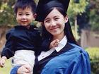 美女硕士儿女双全毕业照被赞人生赢家