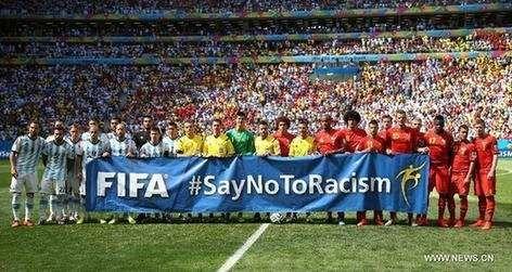 """热词:世界杯上的""""反歧视日""""图片"""
