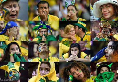 巴西球迷痛哭流涕不忍直视比分