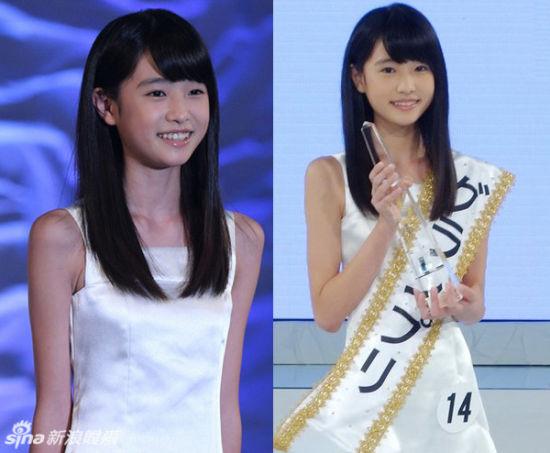 日本国民美少女出炉 12岁初中1年级女生夺冠图