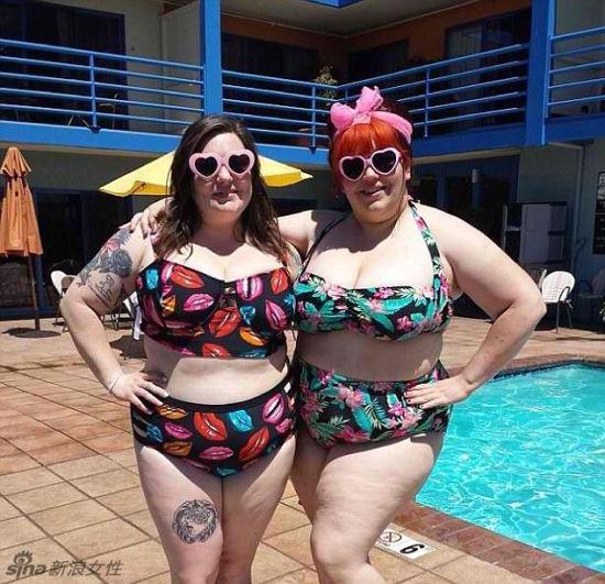胖美女比基尼照走红 肥胖也是萌萌哒图 教育