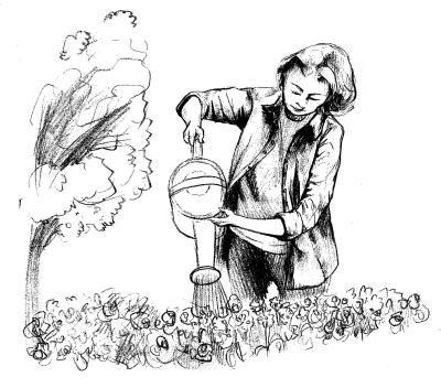 幼儿园排队喝水的队列简笔画