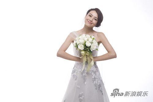高圆圆拍影版《咱们结婚吧》再披婚纱
