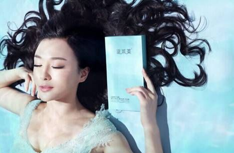 秦岚在黛莱美广告片中