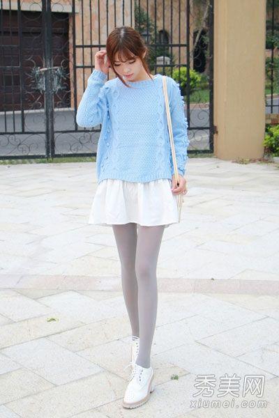 少女穿花边短袜的唯美图片