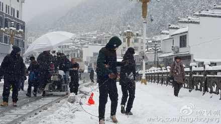 """冯小刚新作热拍范冰冰扮""""村妇""""孤立雪中"""