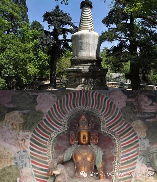 寺庙里的迦陵舍利塔,供奉的是清代雍正年间寺内住持