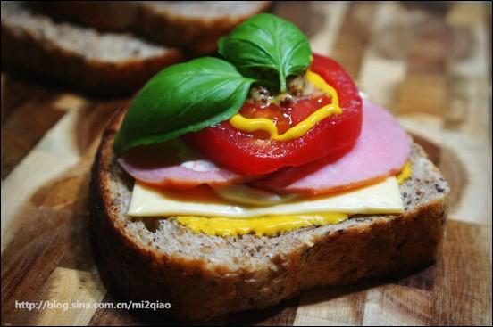 亚麻籽多麦三明治---健康快到碗里来!