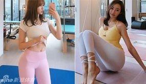 韩国美女健身教练 身材极好美若天仙亲自授课